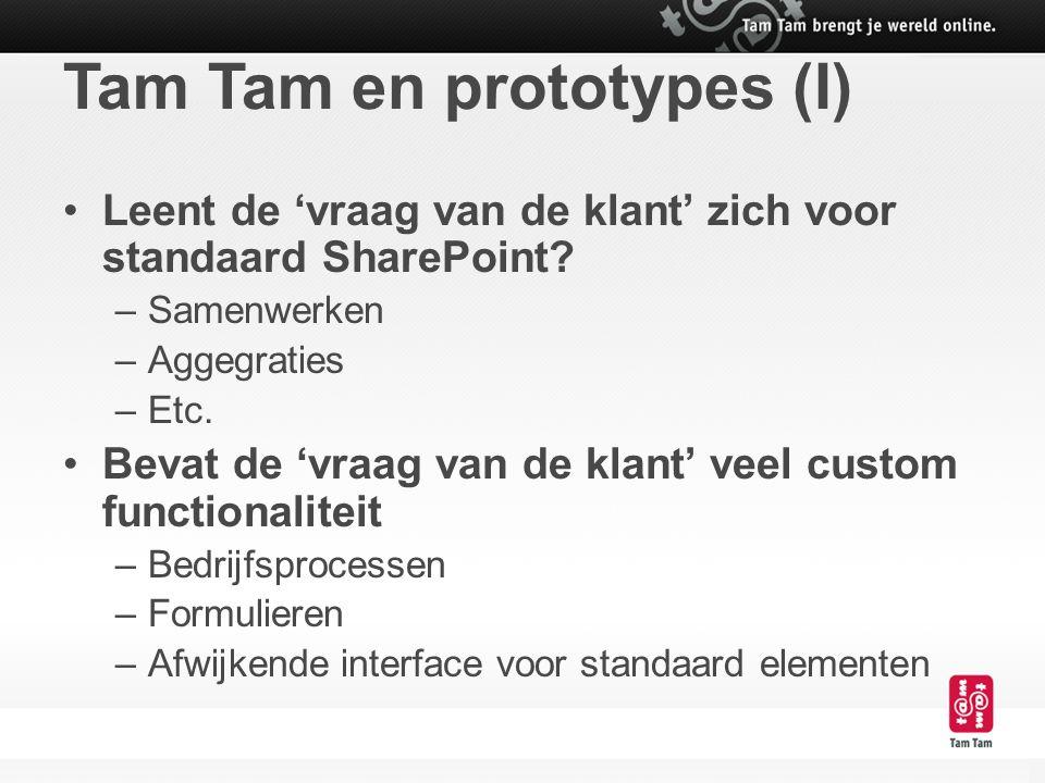 Tam Tam en prototypes (I)