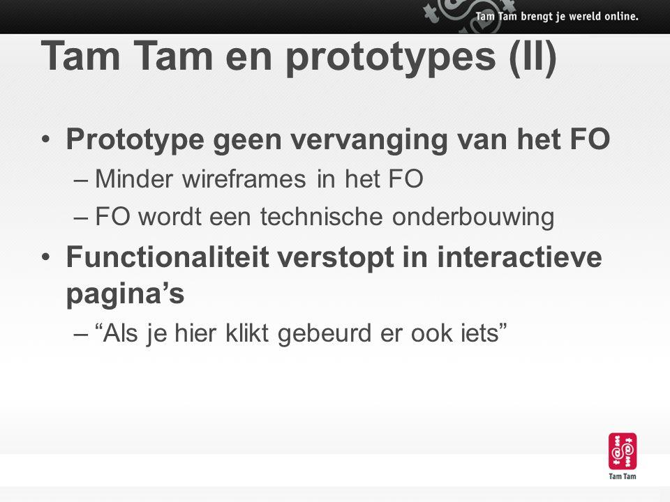 Tam Tam en prototypes (II)