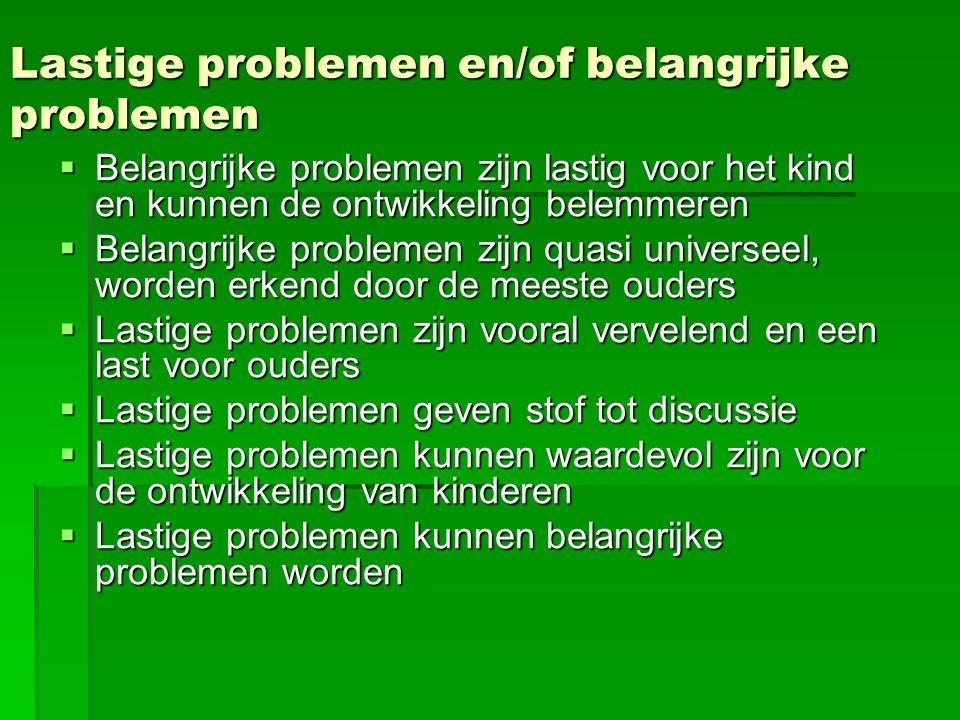 Lastige problemen en/of belangrijke problemen