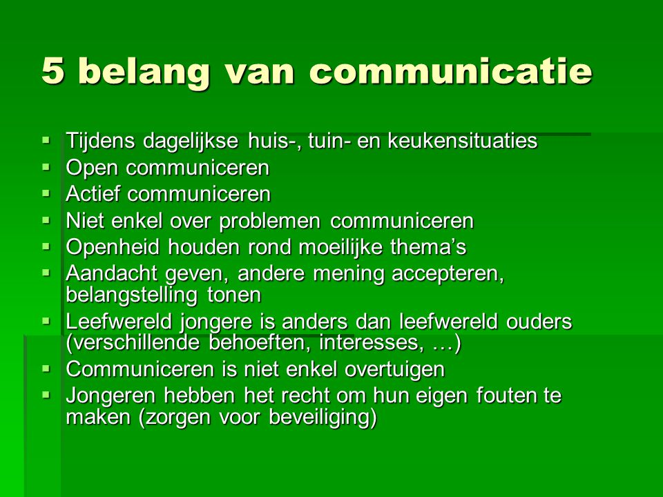 5 belang van communicatie