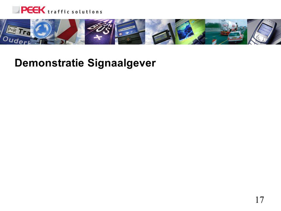 Demonstratie Signaalgever