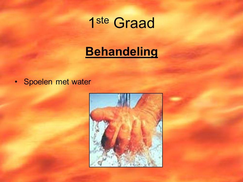 1ste Graad Behandeling Spoelen met water