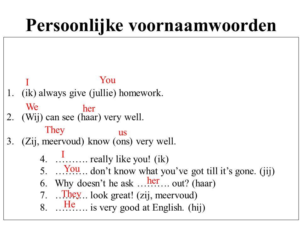 Persoonlijke voornaamwoorden