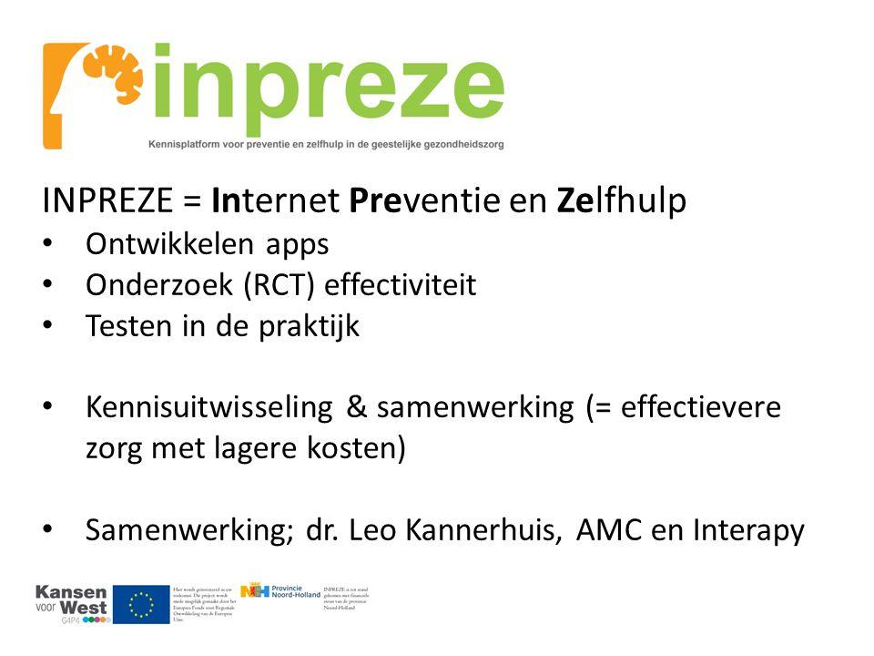 INPREZE = Internet Preventie en Zelfhulp