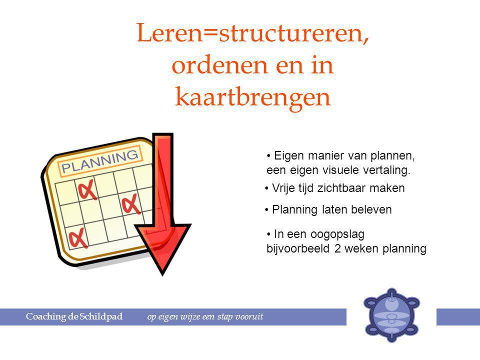 Leren=structureren, ordenen en in kaartbrengen