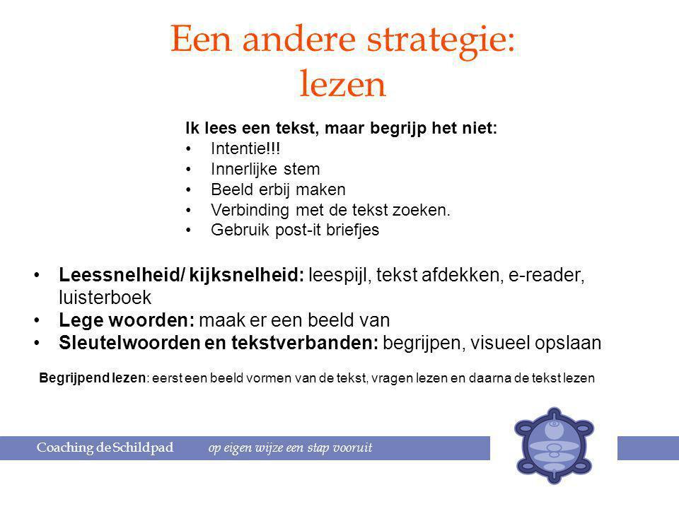 Een andere strategie: lezen