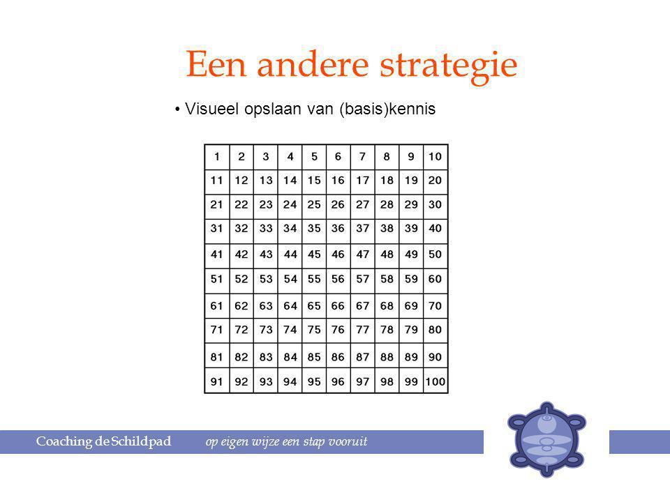 Een andere strategie Visueel opslaan van (basis)kennis