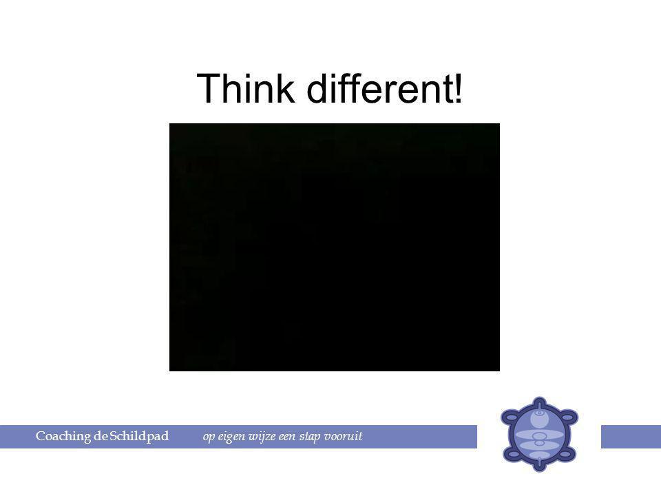 Think different! Coaching de Schildpad op eigen wijze een stap vooruit