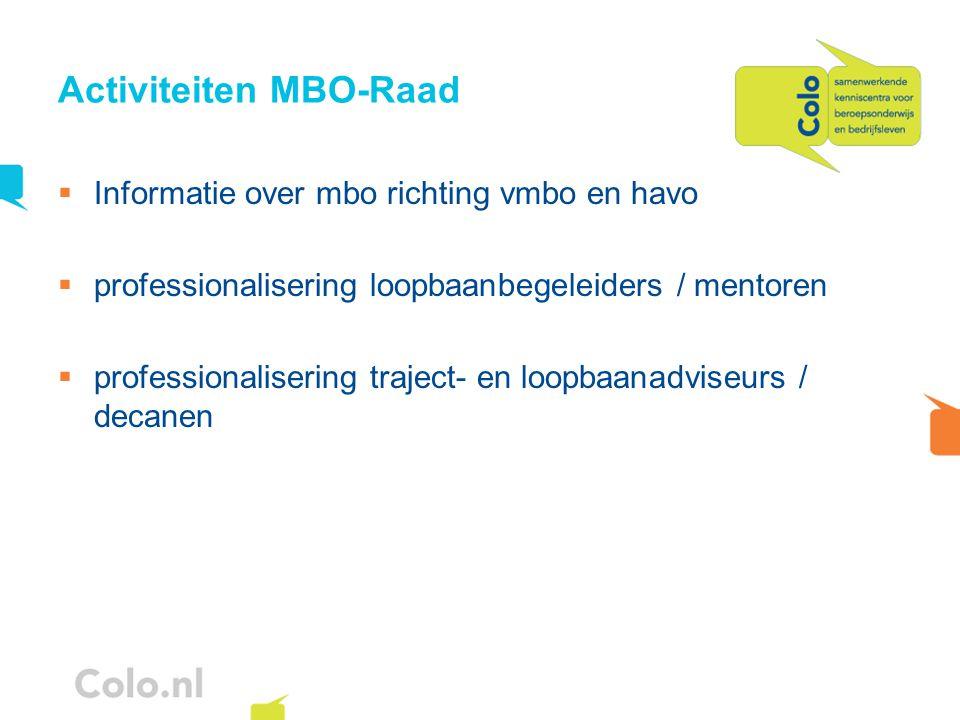 Activiteiten MBO-Raad
