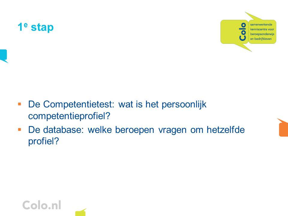 1e stap De Competentietest: wat is het persoonlijk competentieprofiel
