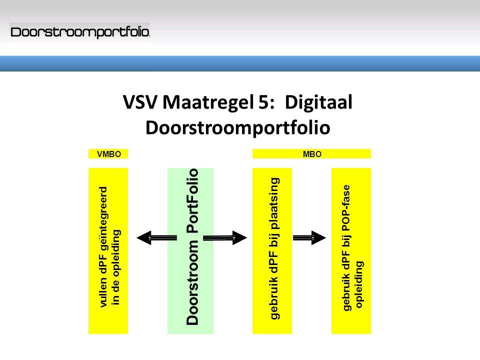 VSV Maatregel 5: Digitaal Doorstroomportfolio