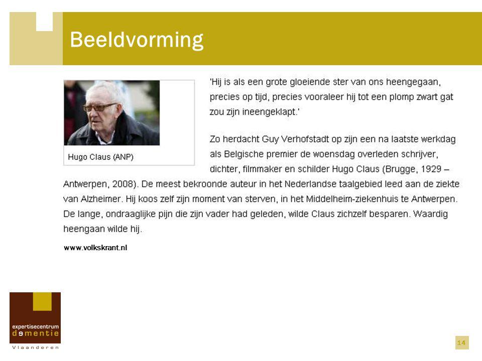 Beeldvorming www.volkskrant.nl