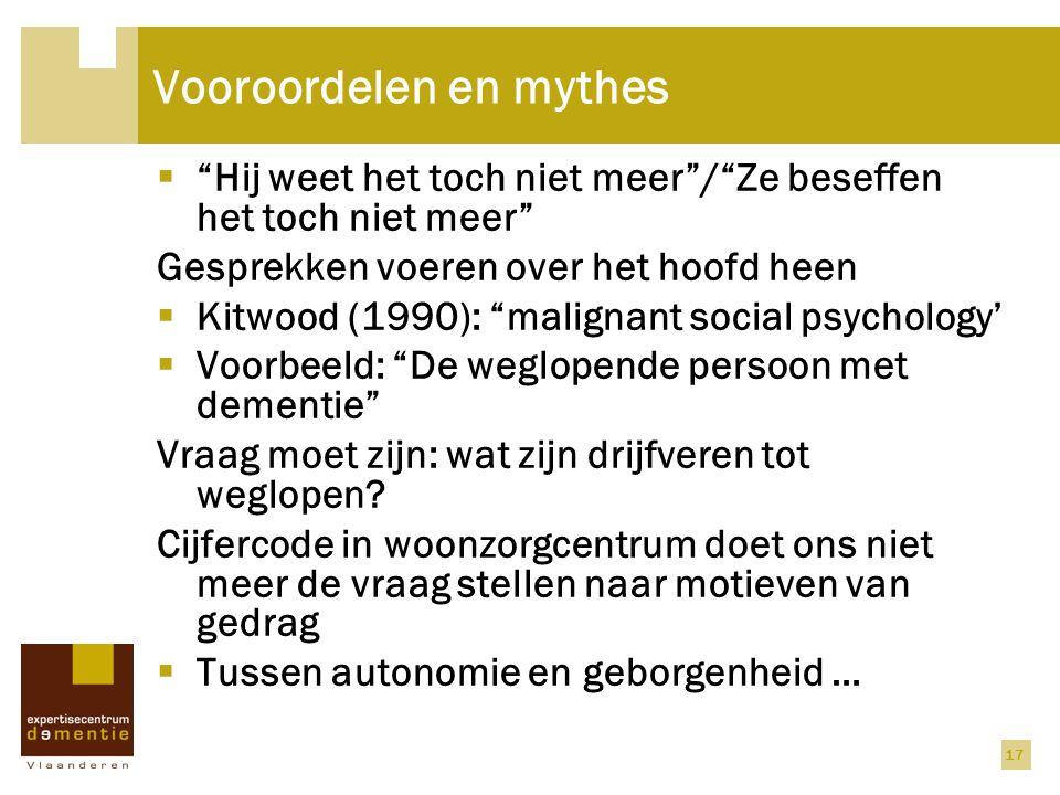Vooroordelen en mythes