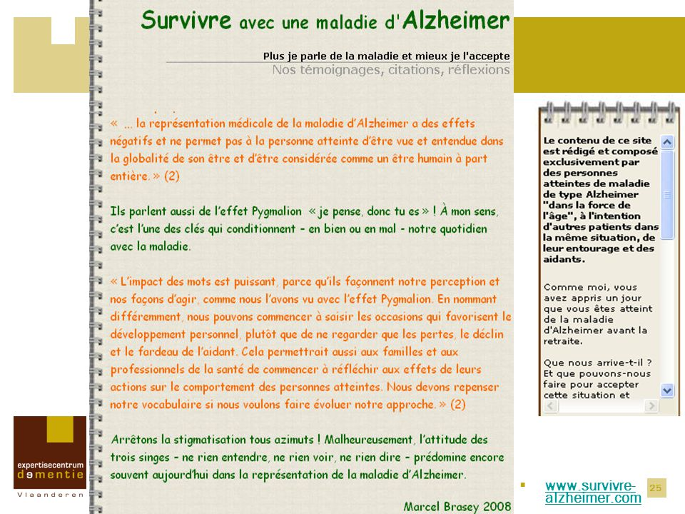 Recente evoluties www.survivre-alzheimer.com