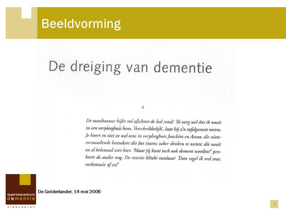 Beeldvorming De Gelderlander, 14 mei 2006