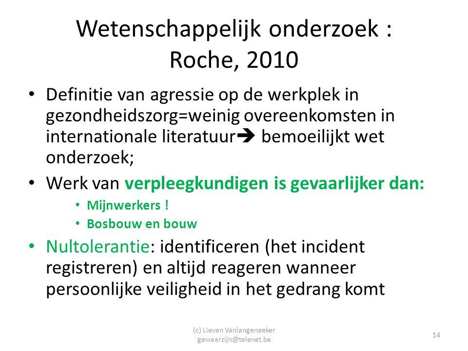 Wetenschappelijk onderzoek : Roche, 2010