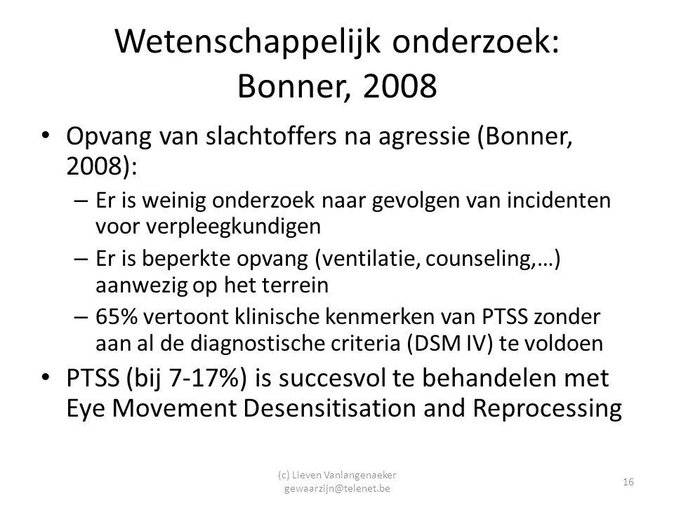 Wetenschappelijk onderzoek: Bonner, 2008