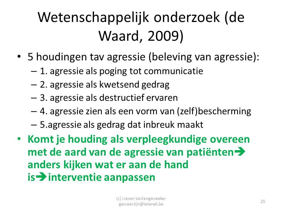 Wetenschappelijk onderzoek (de Waard, 2009)