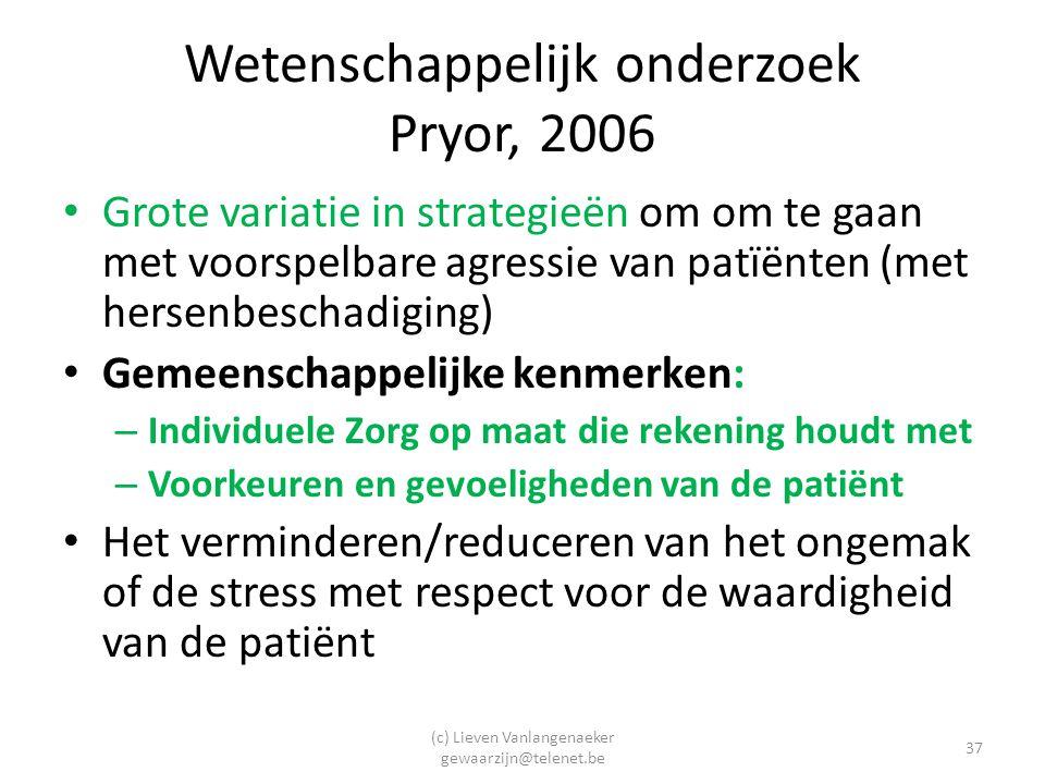 Wetenschappelijk onderzoek Pryor, 2006