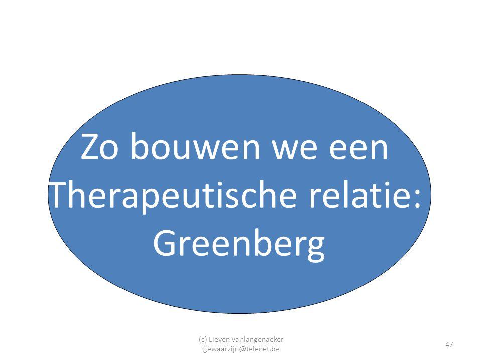 Therapeutische relatie: Greenberg