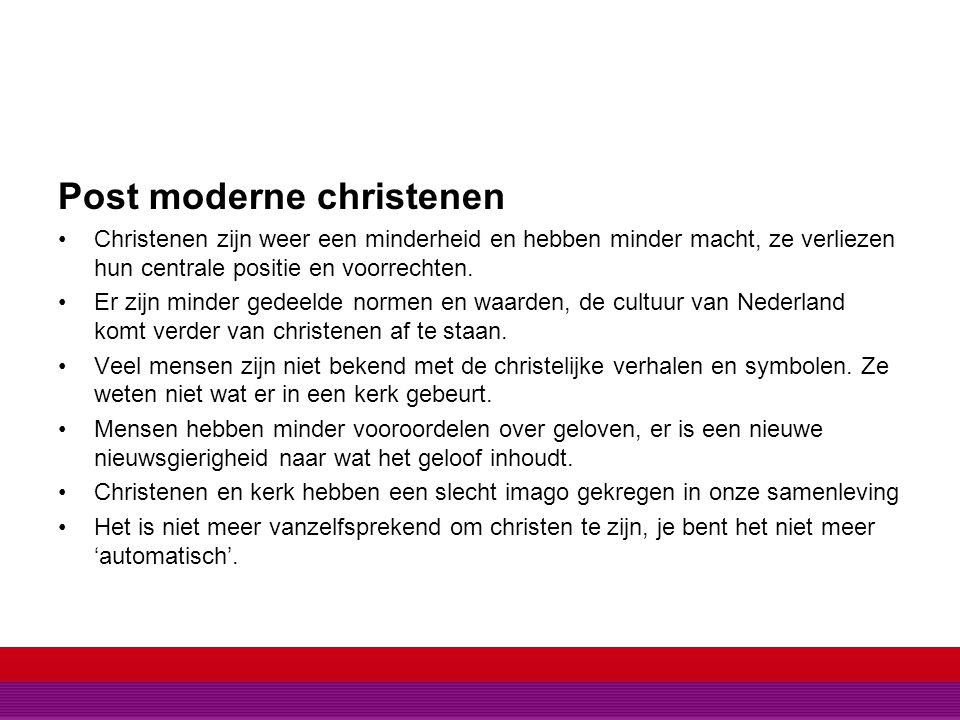 Post moderne christenen
