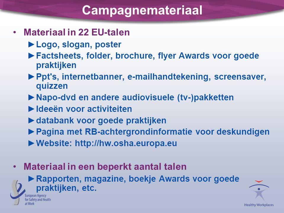 Campagnemateriaal Materiaal in 22 EU-talen