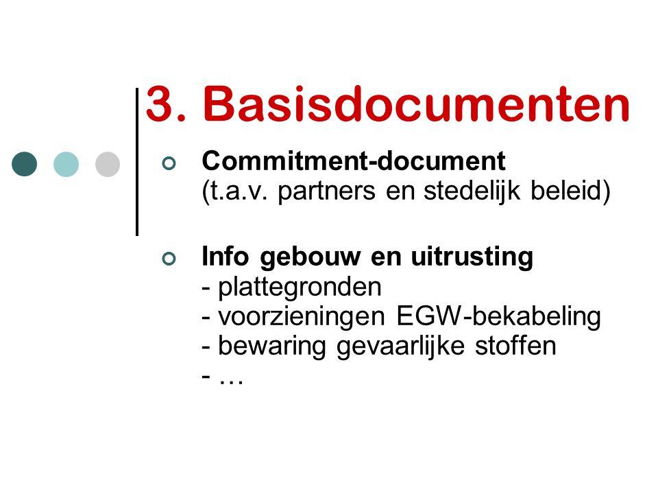 3. Basisdocumenten Commitment-document (t.a.v. partners en stedelijk beleid)