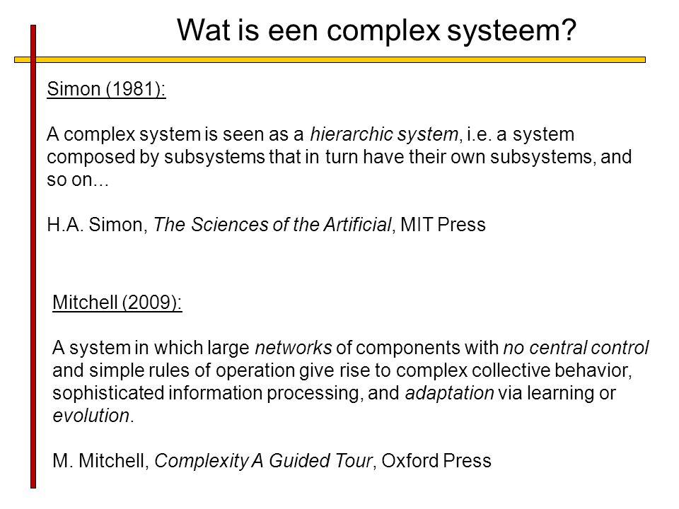 Wat is een complex systeem