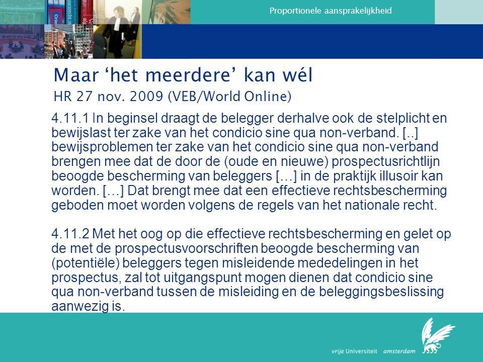 Maar 'het meerdere' kan wél HR 27 nov. 2009 (VEB/World Online)