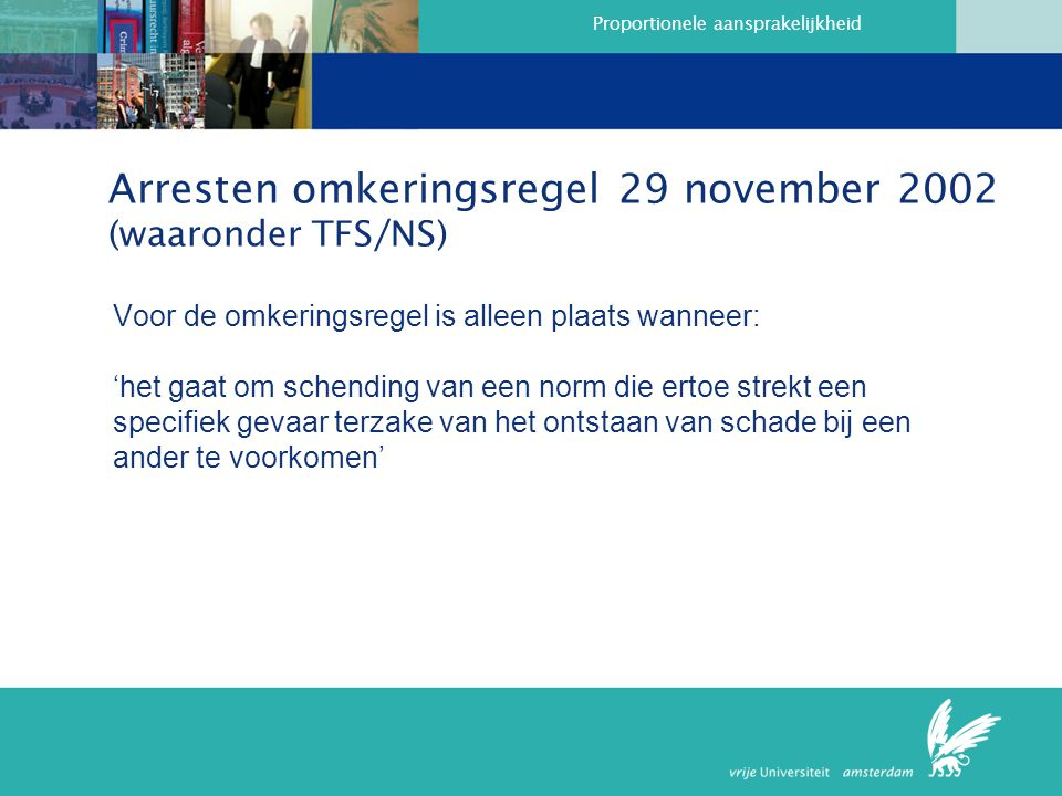 Arresten omkeringsregel 29 november 2002 (waaronder TFS/NS)