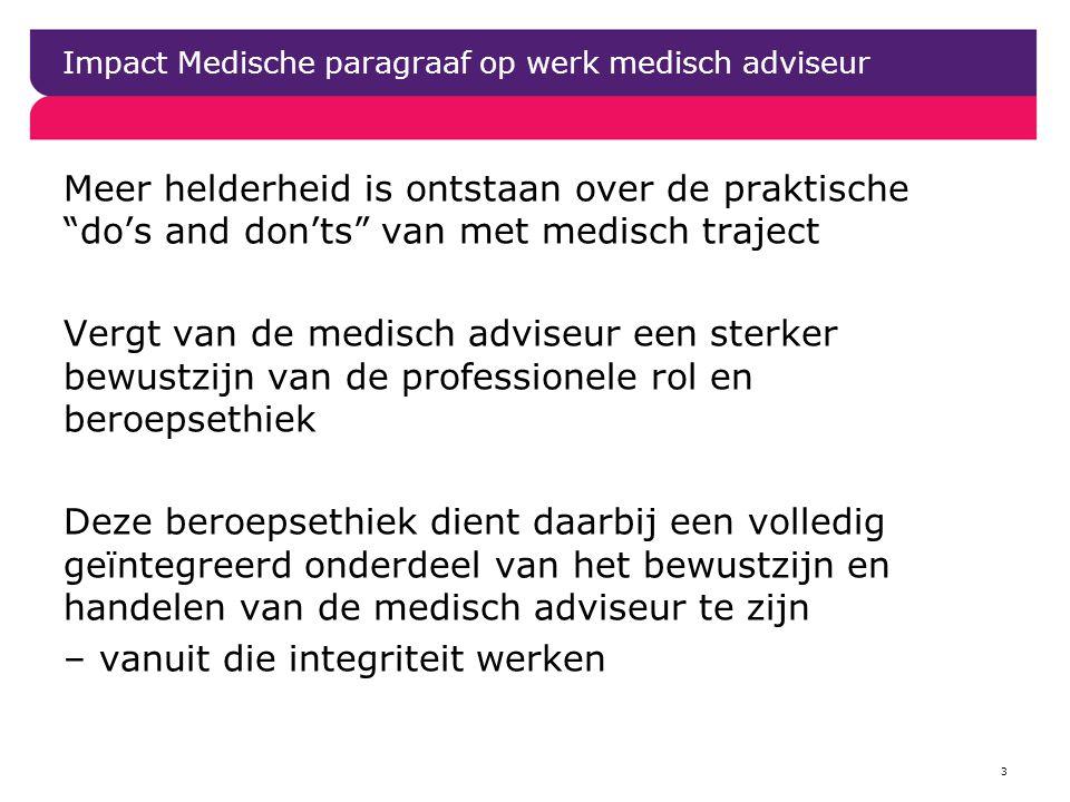 Impact Medische paragraaf op werk medisch adviseur