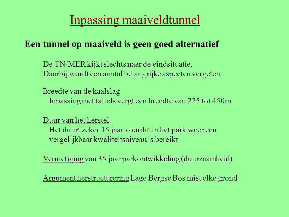 Inpassing maaiveldtunnel