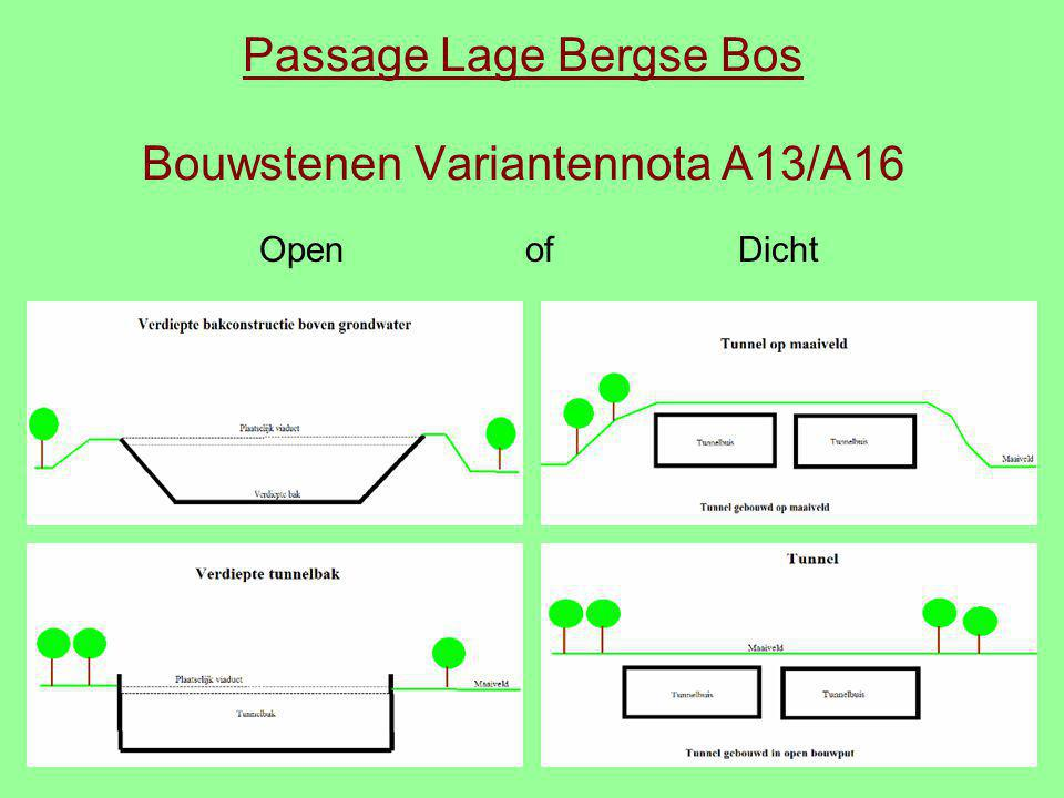 Passage Lage Bergse Bos Bouwstenen Variantennota A13/A16