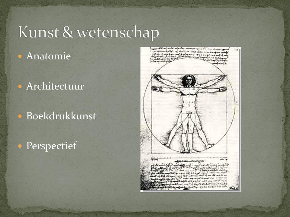 Kunst & wetenschap Anatomie Architectuur Boekdrukkunst Perspectief