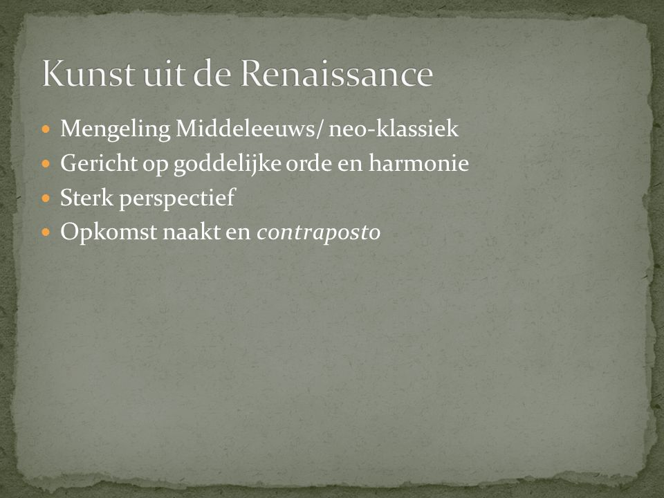 Kunst uit de Renaissance