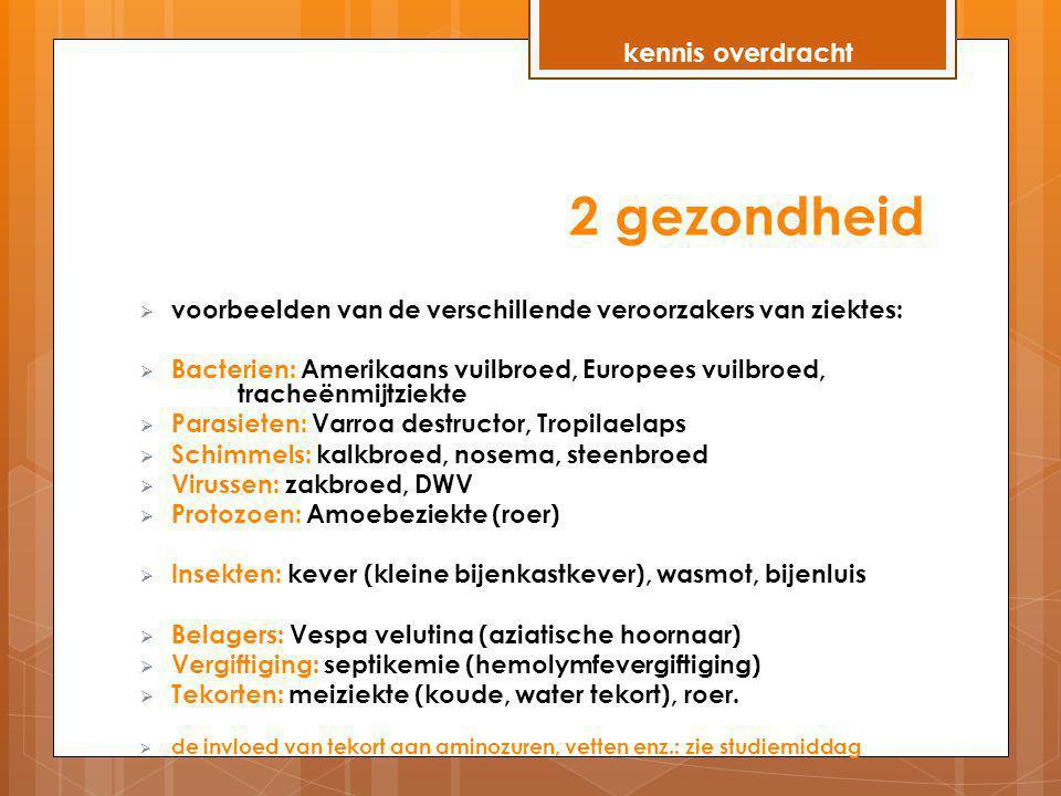 2 gezondheid kennis overdracht