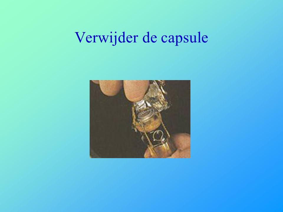 Verwijder de capsule
