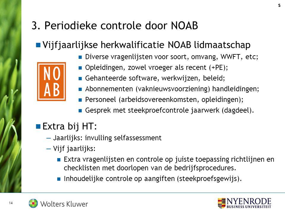 3. Periodieke controle door NOAB