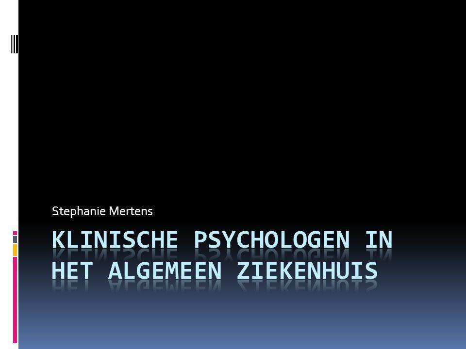 Klinische psychologen in het algemeen ziekenhuis