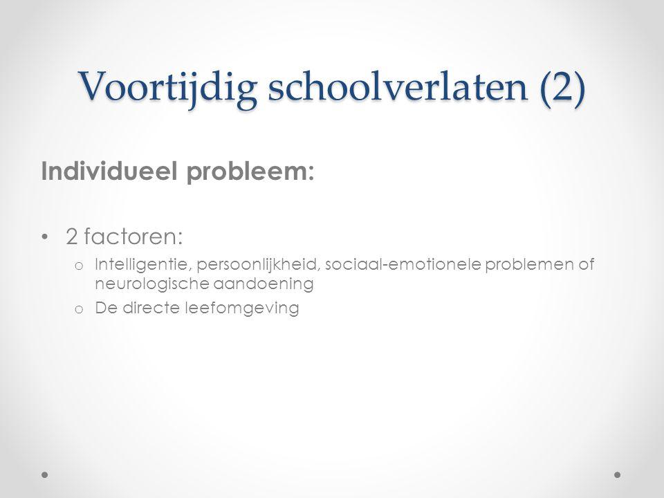 Voortijdig schoolverlaten (2)