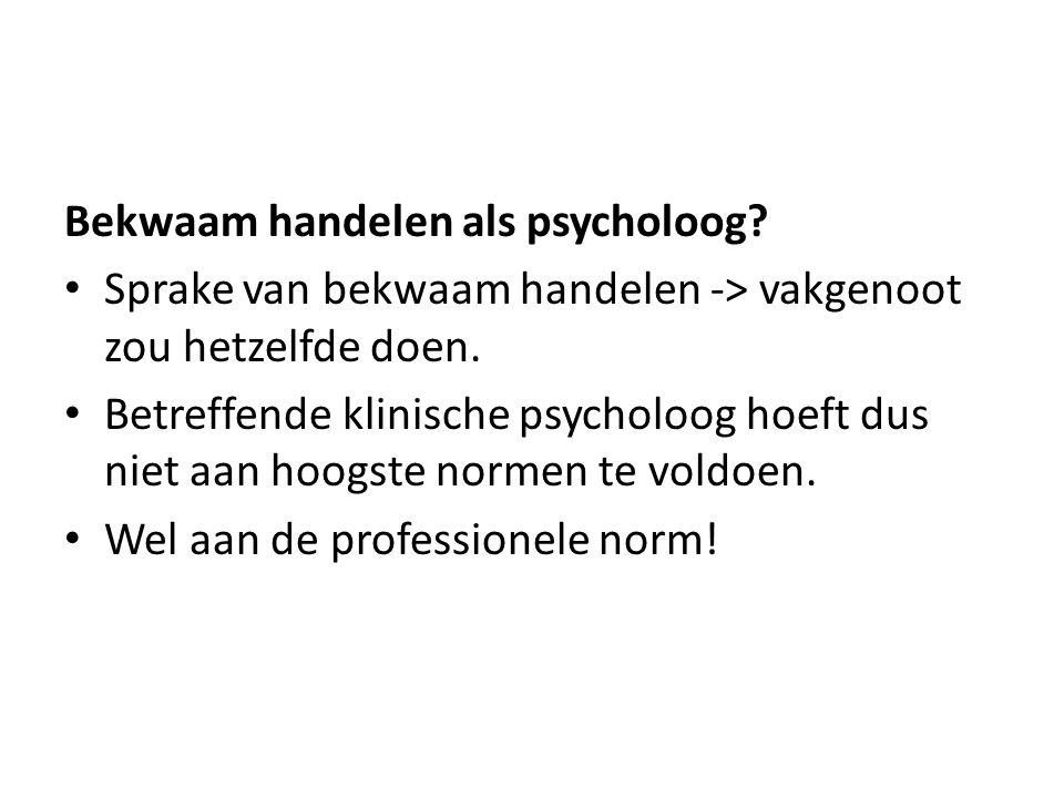 Bekwaam handelen als psycholoog