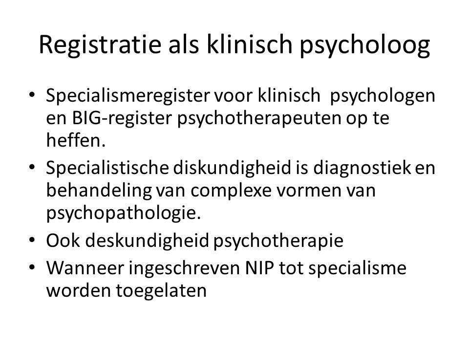 Registratie als klinisch psycholoog