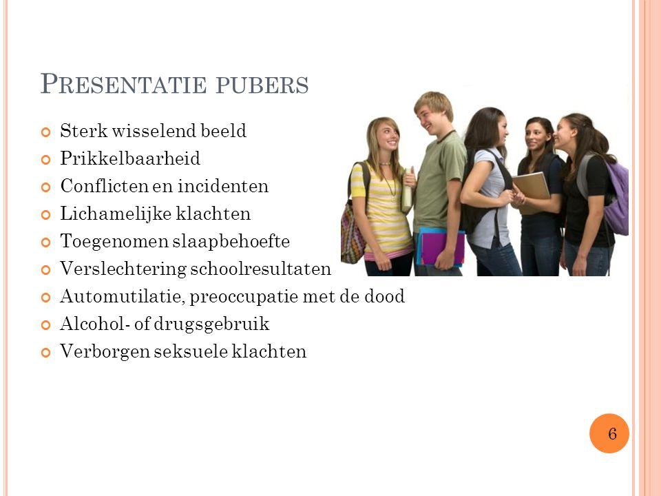 Presentatie pubers Sterk wisselend beeld Prikkelbaarheid