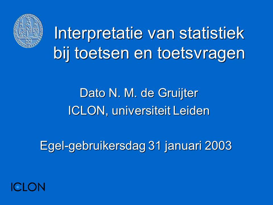Interpretatie van statistiek bij toetsen en toetsvragen