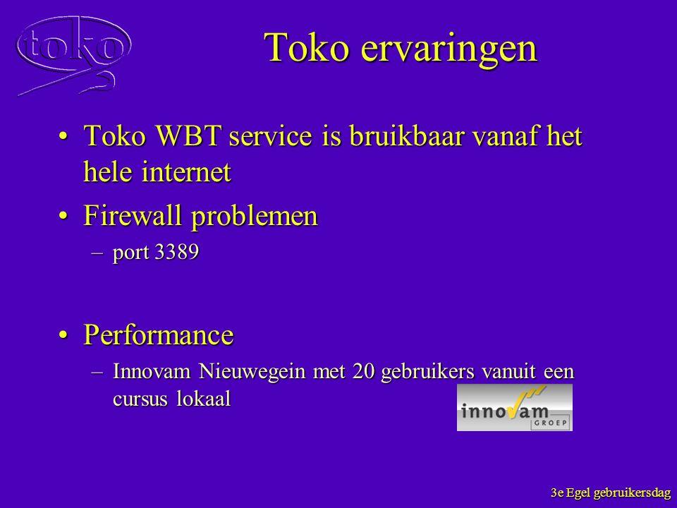 Toko ervaringen Toko WBT service is bruikbaar vanaf het hele internet