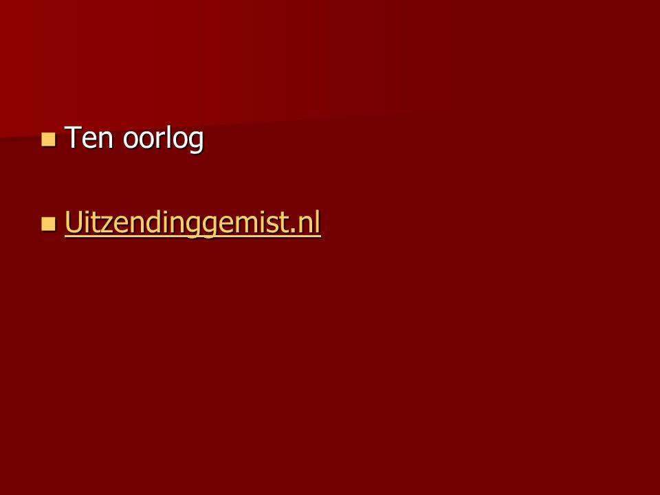 Ten oorlog Uitzendinggemist.nl