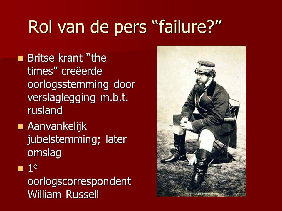 Rol van de pers failure