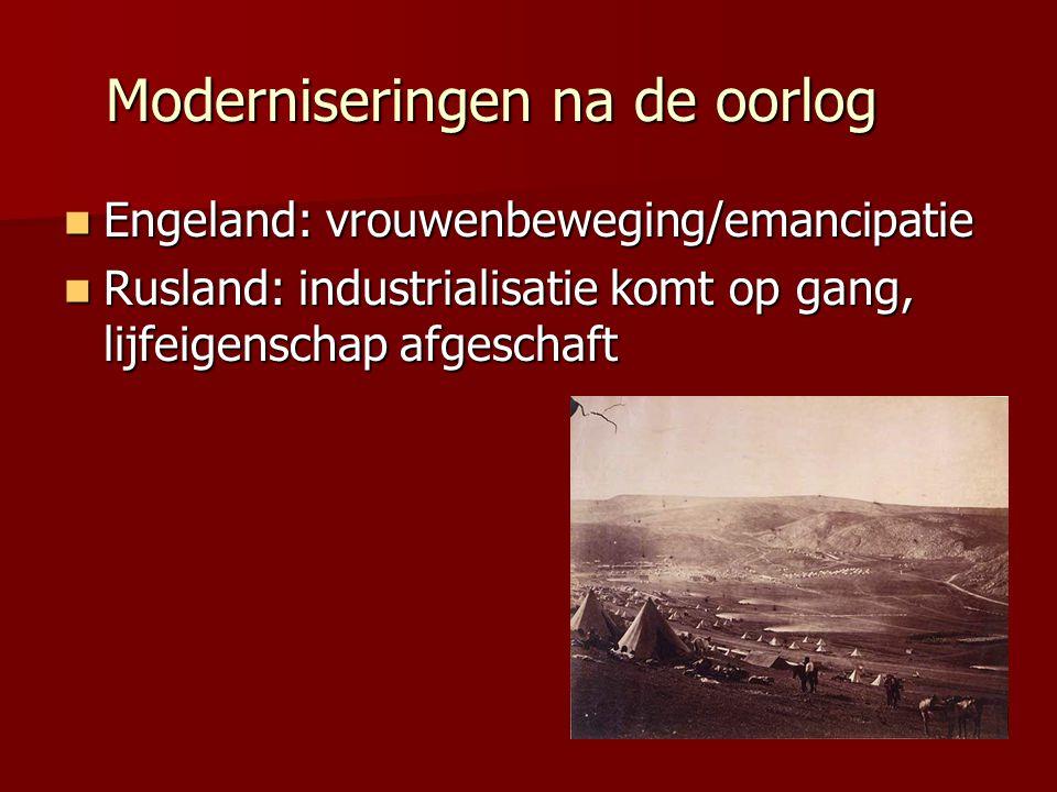 Moderniseringen na de oorlog