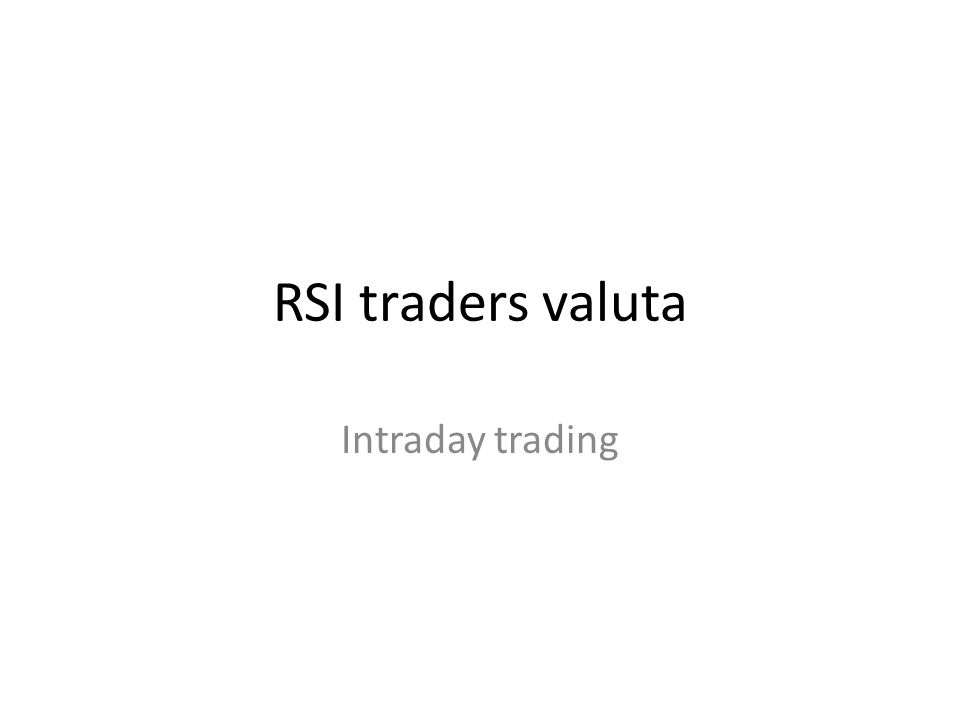 RSI traders valuta Intraday trading