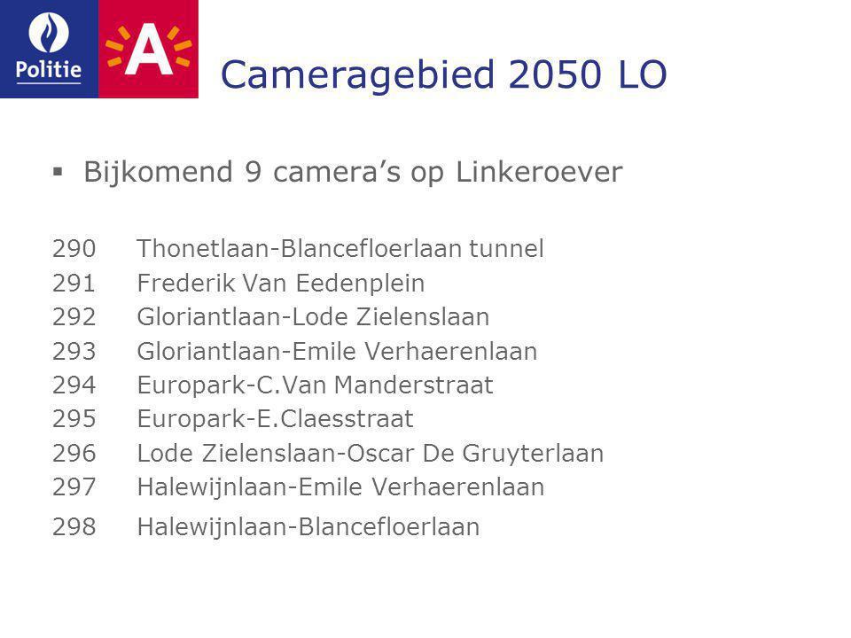 Cameragebied 2050 LO Bijkomend 9 camera's op Linkeroever